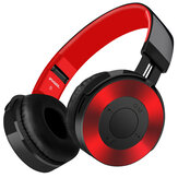 Headphone nirkabel, Bluetooth Headset HiFi Stereo FM Radio kartu TF 3.5 mm Aux dilipat Headphone Gaming dengan Mic