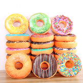 Donut pelúcia Stuffed brinquedo Soft Donut alimentar volta Saddle Set carro Kids Gift Decor