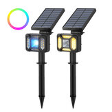BlitzWolf®BW-OLT5 RGB+Warm White Solar Lawn Light Landscape Lamp IP44 Waterproof Dual Lighting Mode Garden Holiday Christmas Decorations Lights