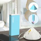 Plegable LED UV Esterilización Lámpara Caja Carga USB Portátil 3mins Mascara Luz ultravioleta esterilizadora para tazas de cepillos de dientes Toalla Afeitadora