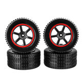 4PCS Wheel Rim & Tires for 23211 KY-1881 1/20 2.4G Buggy Rc Car Parts