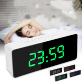 Digital Mirror LED Display Alarm Clock Snooze Desk Clock Temperature Calendar