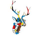 3D Houten Wanddecoratie DIY Hertenhoofd Muur Opknoping Decor Art Ornament Home Kerstversiering
