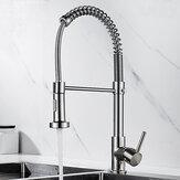 Смеситель для кухни Поворотный смеситель для горячей и холодной воды Многофункциональная раковина Смеситель для кухонной пружины с выдви