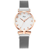 Deffrun A0503 Casual Elegant Design Women Wrist Watch Full Alloy Quartz Watch