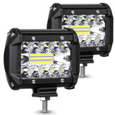 AMBOTHER 2PCS 4 Inch 20 LED Bar Flood Spot Beam Offroad SUV Driving Fog Light