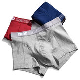 Mens Cotton Respirável Casual U Convex Pure Color Underwear