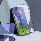 Baseus 2PCS pour iPhone 12 Pro/12 Mini / 12/12 Pro Film avant Max 9H 0.3mm plein écran incurvé anti-explosion anti-lumière bleue écran en verre trempé Protector