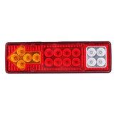 12V / 24V 17 LED Tylne światło tylne Lampa kierunkowskazów dla samochodów ciężarowych przyczepy
