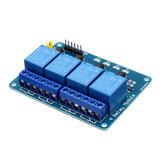 5шт 5V 4-канальный релейный модуль PIC ARM DSP AVR MSP430 Blue Geekcreit для Arduino - продукты, которые работают с официальными платами Arduino
