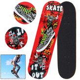 Plataforma de patim de skate de 31 polegadas com roda de PVC Placa de skate de alto impacto ideal para iniciantes e Pro