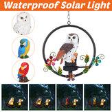 Papagaio coruja Padrão pendurado LED luz solar para jardim ao ar livre lâmpada de gramado decoração à prova d'água de economia de energia
