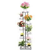 Multi-couche en métal support de plante pot de fleur organisateur étagère décorations présentoir support étagère pour intérieur extérieur patio jardin coin balcon
