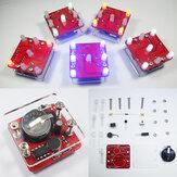 Geekcreit® DIY-schuddende LED-dobbelsteenset met kleine vibratiemotor