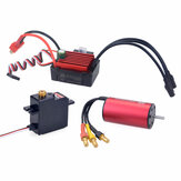 SURPASS HOBBY KK 2040 Motor Brushless 3900KV 35A Brushless ESC 17G Metal Gear Servo Digital para Peças de Carro RC Modelo 1/16 1/18