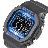 SMAEL 1801 Pure Color Luminous 5ATM wasserdichtes Armband Woche Datumsanzeige Colorful Digitaluhr