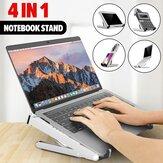 Suporte para laptop ajustável de altura dobrável 4 em 1 Suporte para telefone Suporte para tablet Calculadora Suporte para laptop notebook MacBook entre 11 polegadas e 17 polegadas