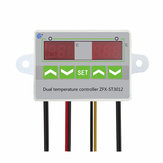 AC 110V-220V 12V 24V Digital LED Dual Thermometer Temperature Controller Thermostat Incubator
