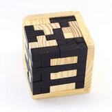 木製Cubeパズルのおもちゃ3D KongmingロックLubanロック連動教育玩具子供の頭の体操子供古典的な早期学習パズル