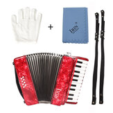 IRIN 22-Keys 8 Bass Accordion Educational Practice Musical Instrument Rhythm Band for Beginner Children