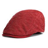 Erkek Uniseks Vintage Solid Beret Şapka Gündelik Outdoor Güneşlenici Beyefendi Düz Golf Capları