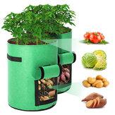 2 csomag 10 literes ültetőtáska szövet edények prémium légáteresztő szövetzacskók burgonyanövényi konténerhez