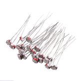 100pcs Light Dependent Resistor LDR 5MM Photoresistor Photoelectric Switch Element Photo Detector 5506