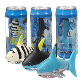 USB Rechargeable Mini Remote Control Shark Electric Diving Shark Toys Gift with Cola Can