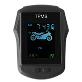 Motorcycle Real Time Tire Pressure Monitoring System TPMS Wireless LCD Display à prova d'água com sensores externos
