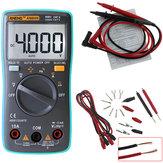 ANENGAN8000Multímetrodigital4000Contras Retroiluminação AC / DC Amperímetro Voltímetro Resistência de capacitância Teste de freqüência + Conjunto de chumbo de teste