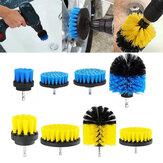 4 Pcs 2 / 3.5 / 4/5 Polegada Elétrica Broca Escova Amarelo / Azul Limpeza Escova Ferramenta Para O Tapete Da Banheira