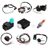50CC-125CC Mini ATV Complete Wiring Harness CDI STATOR 6 Coil Pole Ignition Electric