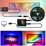 1/2/3/4 / 5m DIY Ambient Light Strip TV PC USB LED Strip HDTV monitor de computador Backlight