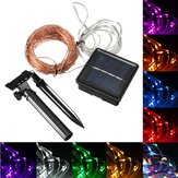 20M 200 LED Solar Powered Copper Wire String Fairy Light Xmas Party Decor