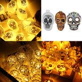 1.5M/3M 10/20LED Halloween Skull LED String Fairy Light Ornament Decor Party Home