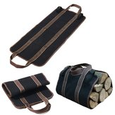 Canvas Supersized Brandhout Carrier Log Tote Campinghouder Draagtas