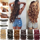 6 Colors Fiber Extension Clips Curly Wavy Hair Wig