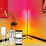 Πολύχρωμο Smart Floor Lamp Atmosphere Lamp APP Control DIY Mode with Music Sync Timer Fuction Living Room Bedroom Atmosphere Light RGB Corner Floor Light Dream Color Light Strip για διακόσμηση δωματίου