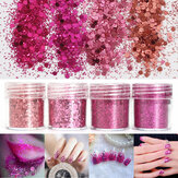 Super Shining Mixed Brilho Sequins em pó Unhas Decouação Dust Rose Red Mermaid Effect Manicure Orn
