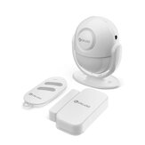 DIGOO DG-LADA 433MHz Infrared Motion Detector Multi-function Smart Home Security Alarm System PIR Host & Bell Set