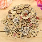 100 unids color mezclado flor de madera botones de costura diy bolsa artesanal sombrero ropa decoración botón de costura
