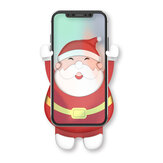 Bakeey CL-40 Merry Christmas Santa Claus Pattern Gravity Linkage Auto Lock Car Air Vent Mobile Phone Holder Mount for Devices between 63-88mm Width