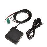 3.5mm AUX TF USB CD Adaptador de Cabo de Áudio 6Pin com Microfone bluetooth Para Renault 2005-2011