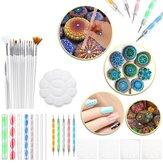 33Pcs Mandala Dotting Tools Set Rock Painting Kit Nail Art Pen Paint Stencil