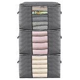 3 Pcs Sac De Rangement De Vêtements Zip Organisateur Boîtes Oreillers Couette Literie Sac Bagages Sac