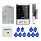 Waterproof RFID Door Access Control Controller Keypad Kit with Electric Lock & 10 RFID Keyfob Card