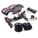ZDRacing9021-V31/8110km/ h 4WD Sin escobillas Truggy Frame DIY Rc Coche KIT sin componentes electrónicos