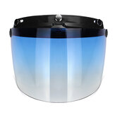 3-Snap Flip Up Open Face Moto Casco Visor Shield Cinco colores