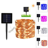8 modalità 10 / 20m 100/200 LED solare Power Fairy Lights String Lamps Party Wedding Decor Garden