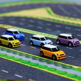 Turbo Racing sin transmisor 1/76 2,4G Mini RC totalmente proporcional Coche luz LED vehículos modelo juguetes para niños
